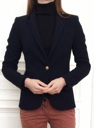 Zara Woman Blazer Navy Marineblau Dunkelblau Gold XS 34 S 36