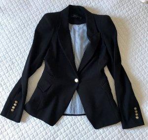 Zara Woman Boyfriend Blazer black mixture fibre