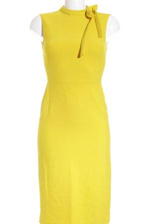 Zara Woman Bleistiftkleid gelb-dunkelgelb Business-Look