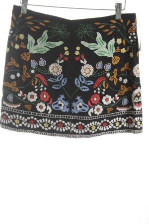 Zara Woman Bleistiftrock florales Muster Street-Fashion-Look