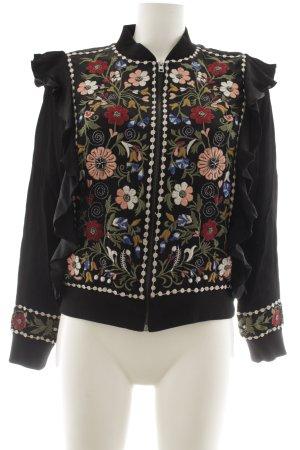 Zara Woman Blouson Blumenmuster Casual-Look