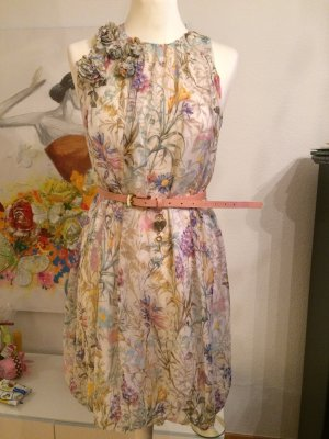 Zara Woman Blumenkleid M 36/38 Seide geblümt