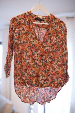 Zara Woman Bluse Blumen Größe S