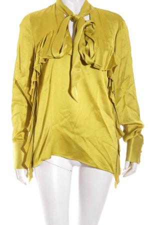 Zara Woman Bluse limettengelb extravaganter Stil
