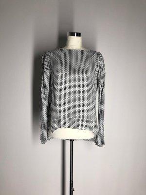 Zara Woman Bluse, schwarz-weißes Rautenmuster
