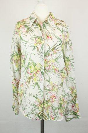 Zara Woman Bluse Seidenbluse Gr. M Blumenprint und Nieten auf Schulter