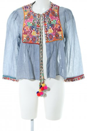 Zara Woman Blusenjacke grafisches Muster Casual-Look