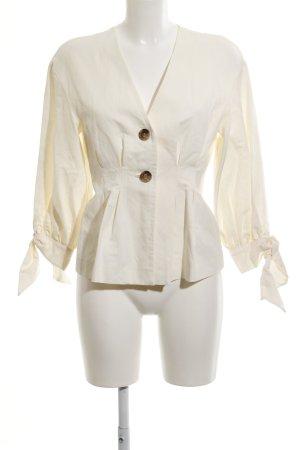 Zara Woman Blusenjacke creme schlichter Stil