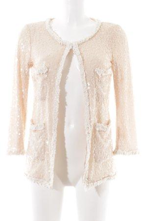 Zara Woman Veste chemisier crème motif de tache pailleté