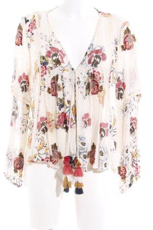 Zara Woman Blusenjacke florales Muster Beach-Look