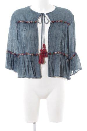 Zara Woman Chaqueta tipo blusa moteado look casual