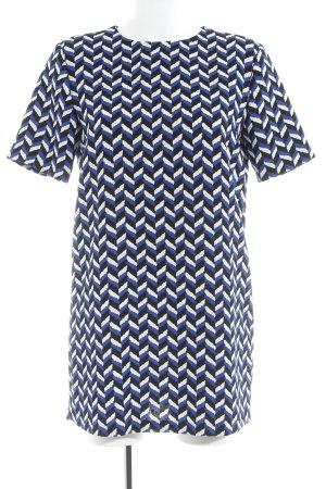 Zara Woman Blusenkleid abstraktes Muster Casual-Look