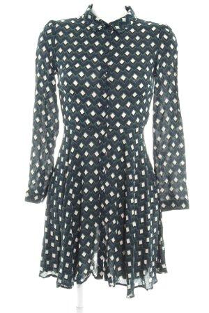 Zara Woman Blusenkleid abstraktes Muster Logo-Applikation