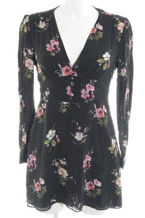 Zara Woman Blusenkleid Blumenmuster Romantik-Look