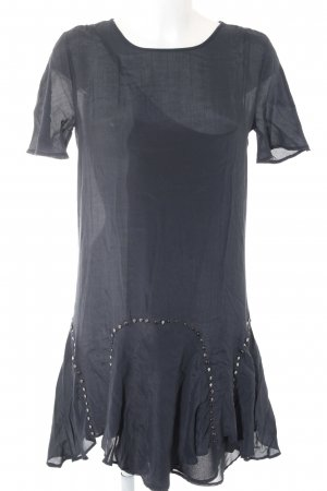 Zara Woman Blusenkleid dunkelblau Street-Fashion-Look