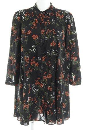 Zara Woman Blusenkleid florales Muster Gypsy-Look
