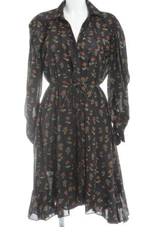 Zara Woman Blusenkleid florales Muster Romantik-Look