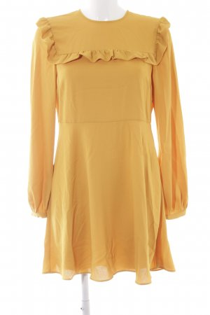 Zara Woman Blusenkleid hellorange Elegant