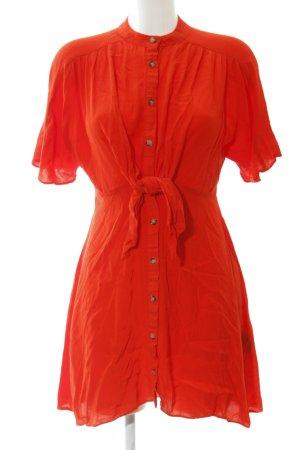 Zara Woman Blusenkleid hellrot Romantik-Look