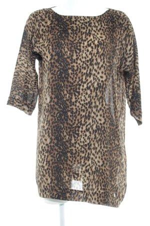 Zara Woman Blusenkleid Leomuster Animal-Look
