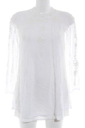 Zara Woman Blusenkleid wollweiß Elegant