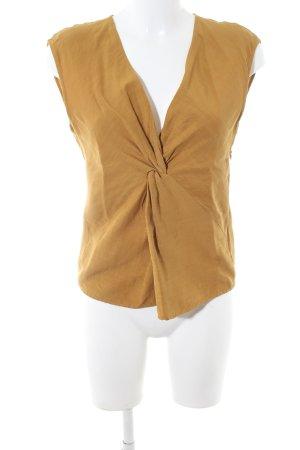 Zara Woman Blouse topje licht Oranje casual uitstraling