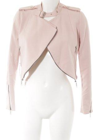 Zara Woman Bolero rosa Biker-Look