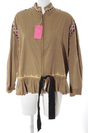 Zara Woman Bomberjacke hellbraun-camel Biker-Look