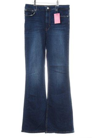 Zara Woman Boot Cut Jeans blau Casual-Look