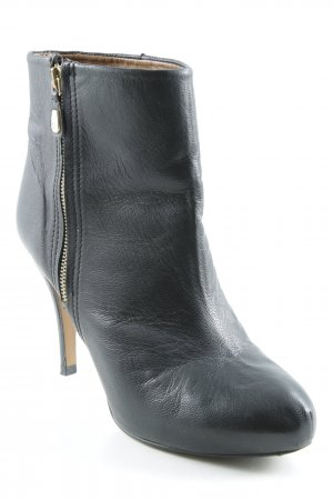 Zara Woman Booties schwarz-goldfarben Casual-Look