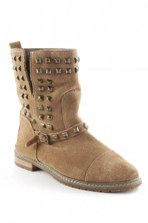 Zara Woman Boots hellbraun Street-Fashion-Look