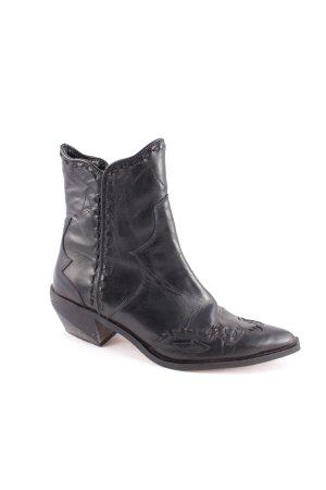 Zara Woman Boots schwarz Country-Look