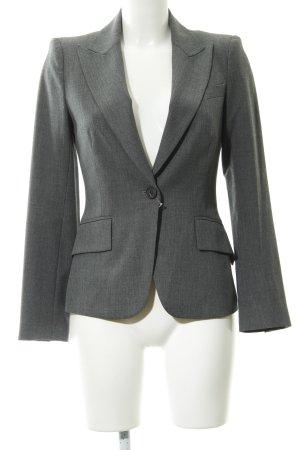Zara Woman Boyfriend-Blazer grau meliert klassischer Stil