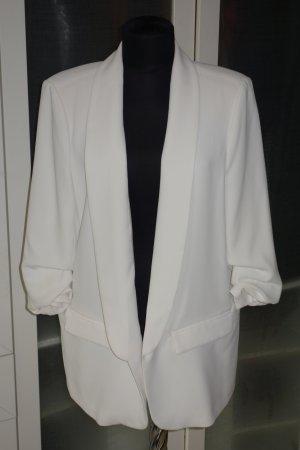 Zara Woman Blazer boyfriend blanc