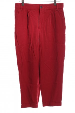 Zara Woman Pleated Trousers red casual look