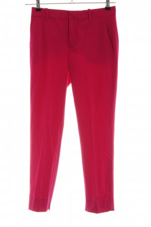 Zara Woman Bundfaltenhose rot Business-Look