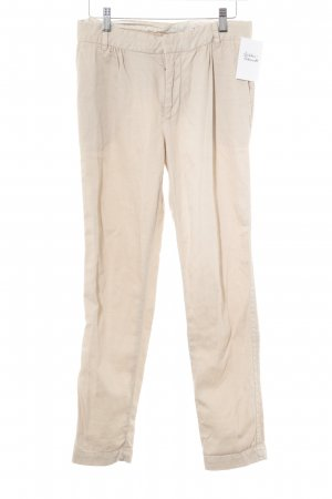 Zara Woman Bundfaltenhose hellbeige Casual-Look