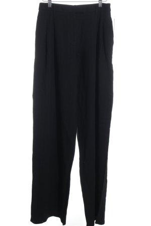 Zara Woman Bundfaltenhose schwarz Streifenmuster schlichter Stil
