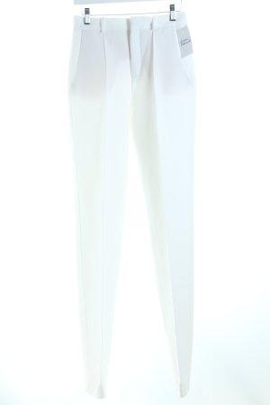 Zara Woman Bundfaltenhose wollweiß Business-Look