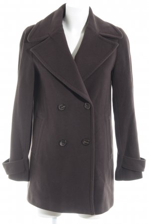 Zara Woman Pea Jacket brown business style