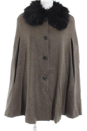 Zara Woman Cape houndstooth pattern Brit look
