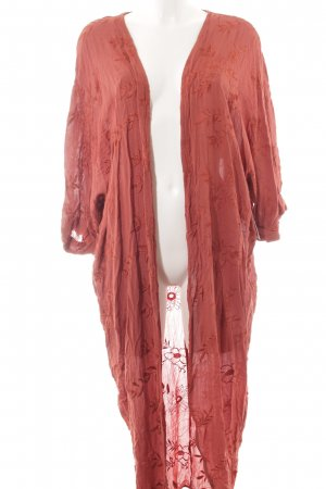 Zara Woman Cardigan rostrot florales Muster Boho-Look