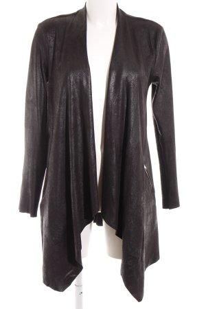 Zara Woman Cardigan schwarz Schimmer-Optik