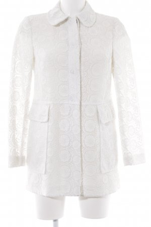 Zara Woman Cardigan weiß florales Muster Elegant