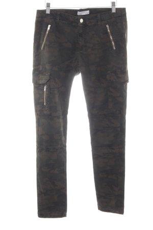 Zara Woman Pantalon cargo motif de camouflage style décontracté