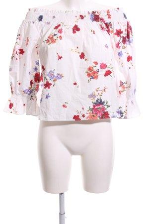 Zara Woman Blusa alla Carmen motivo floreale stile casual