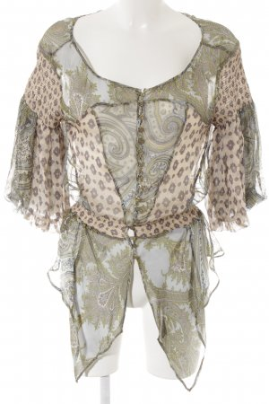 Zara Woman Carmen blouse abstract patroon extravagante stijl