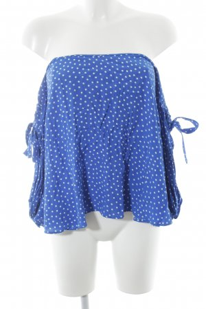 Zara Woman Carmen Blouse blue-white spot pattern street-fashion look