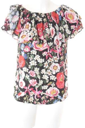 Zara Woman Carmen-Bluse Blumenmuster Romantik-Look