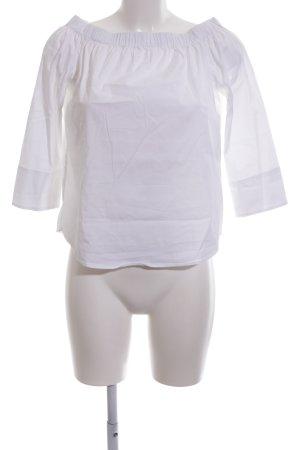 Zara Woman Blusa alla Carmen bianco stile casual